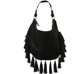 Antik Kraft black bag with tassels